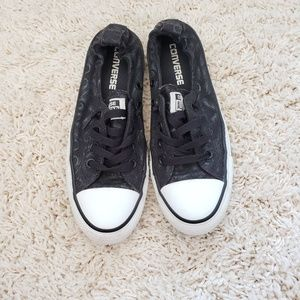 Black Slip On Converse